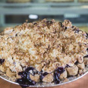 Blueberry Pina Colada Pie
