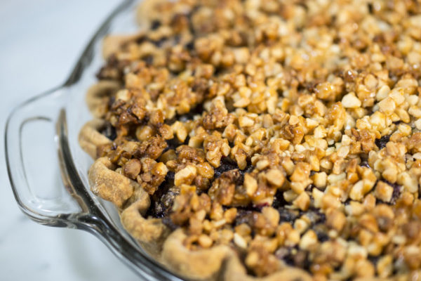 Blueberry Basil and Goat Cheese Pie