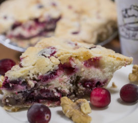 Cranberry Walnut Pudding Pie