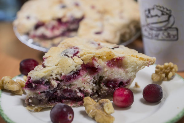 Cranberry Walnut Pudding Pie