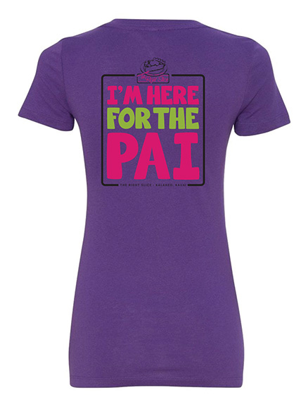 The Right Slice Ladies V-Neck Purple T-shirt - Back